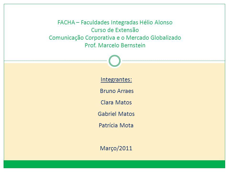 FACHA – Faculdades Integradas Hélio Alonso Curso de Extensão Comunicação Corporativa e o Mercado Globalizado Prof. Marcelo Bernstein
