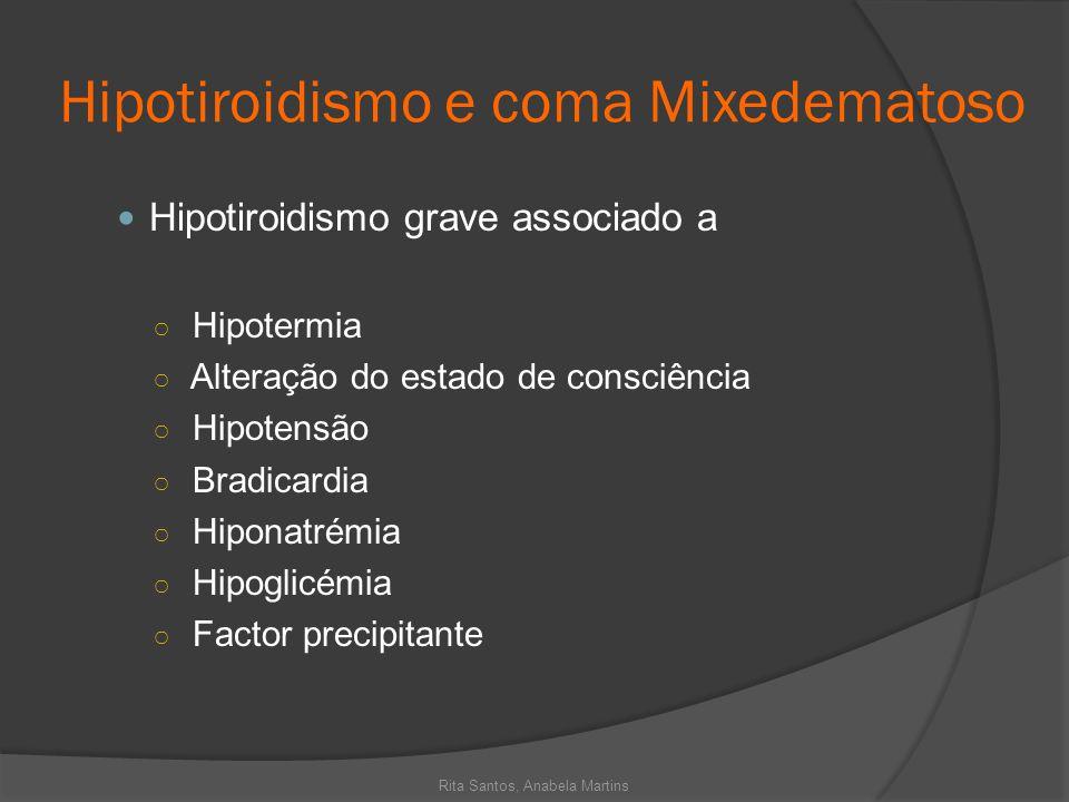 Hipotiroidismo e coma Mixedematoso