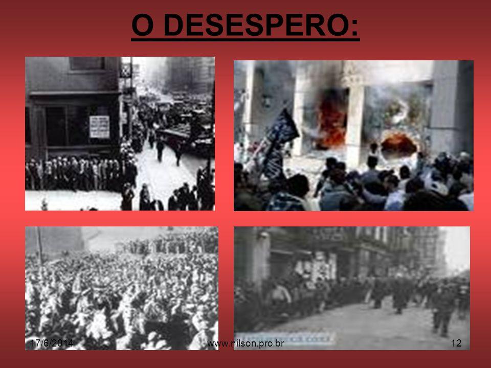 O DESESPERO: 02/04/2017 www.nilson.pro.br