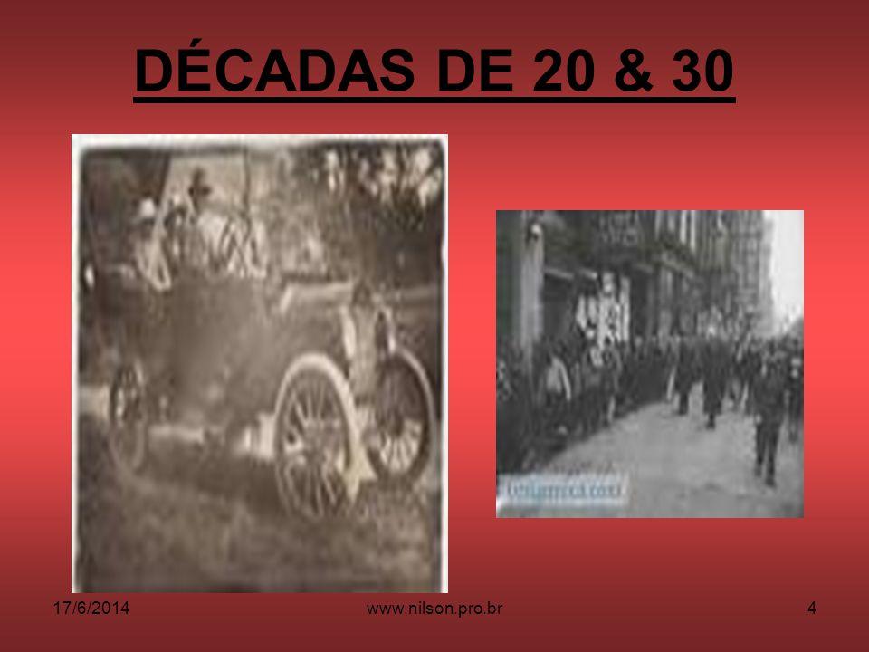 DÉCADAS DE 20 & 30 02/04/2017 www.nilson.pro.br