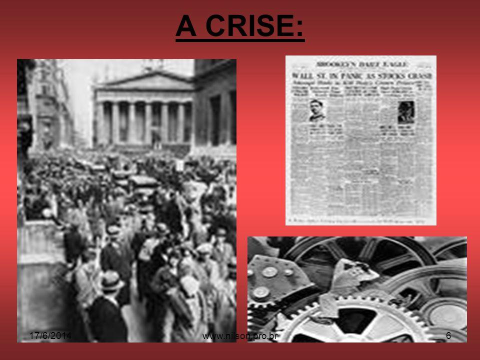 A CRISE: 02/04/2017 www.nilson.pro.br