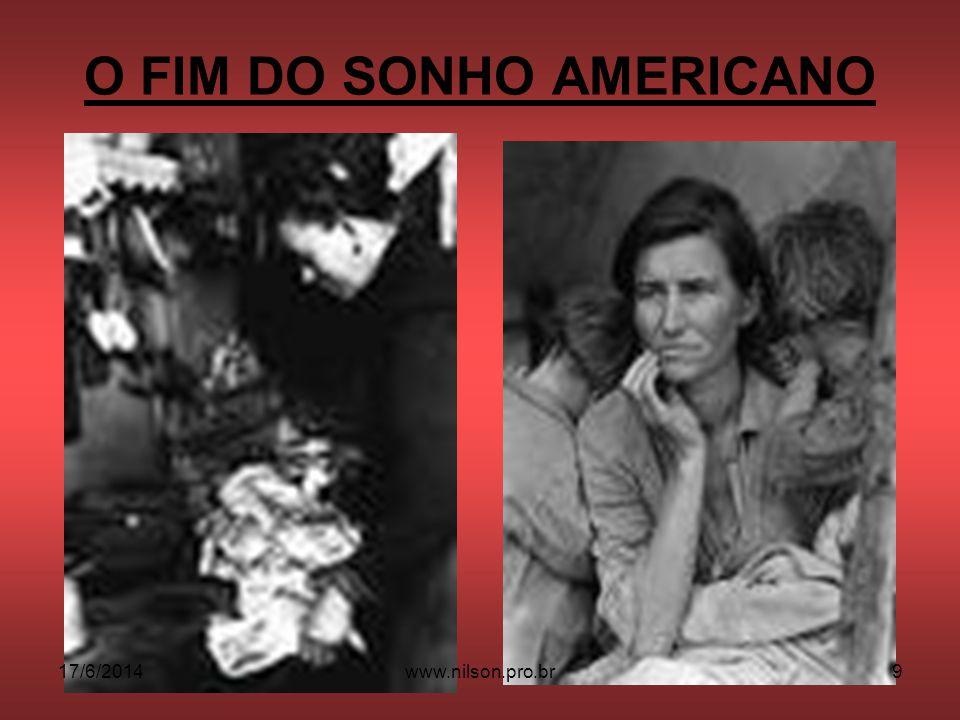 O FIM DO SONHO AMERICANO