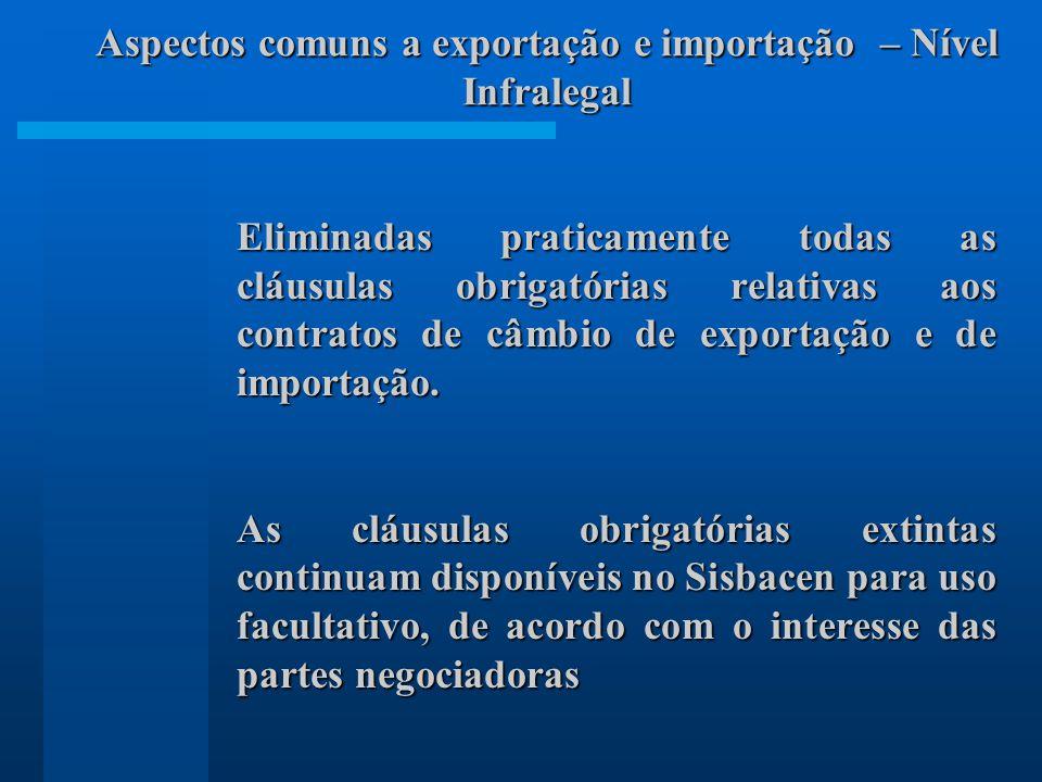 Aspectos comuns a exportação e importação – Nível Infralegal