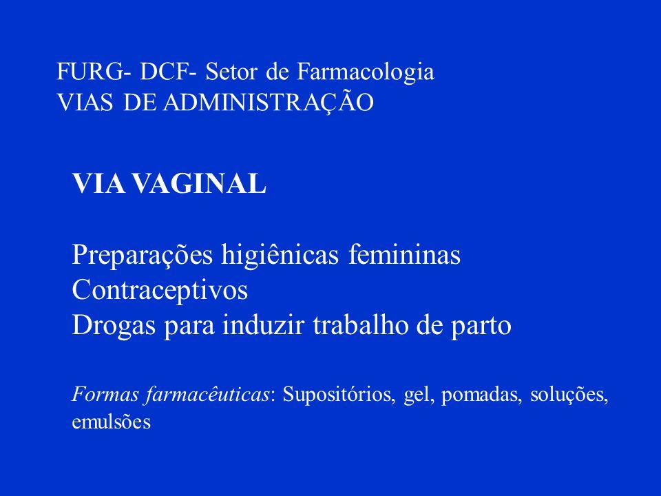 Preparações higiênicas femininas Contraceptivos