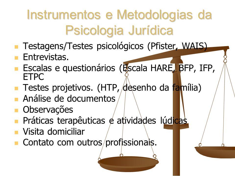 Instrumentos e Metodologias da Psicologia Jurídica