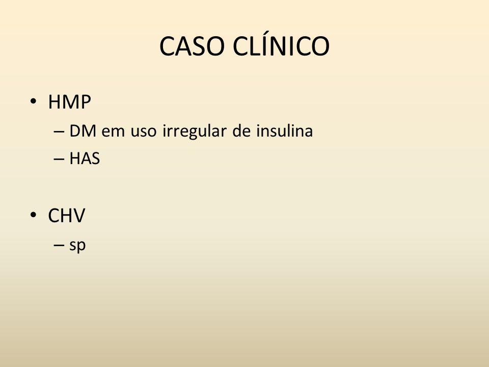 CASO CLÍNICO HMP DM em uso irregular de insulina HAS CHV sp