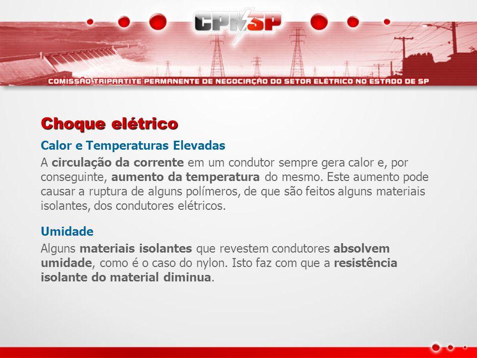 Choque elétrico Calor e Temperaturas Elevadas