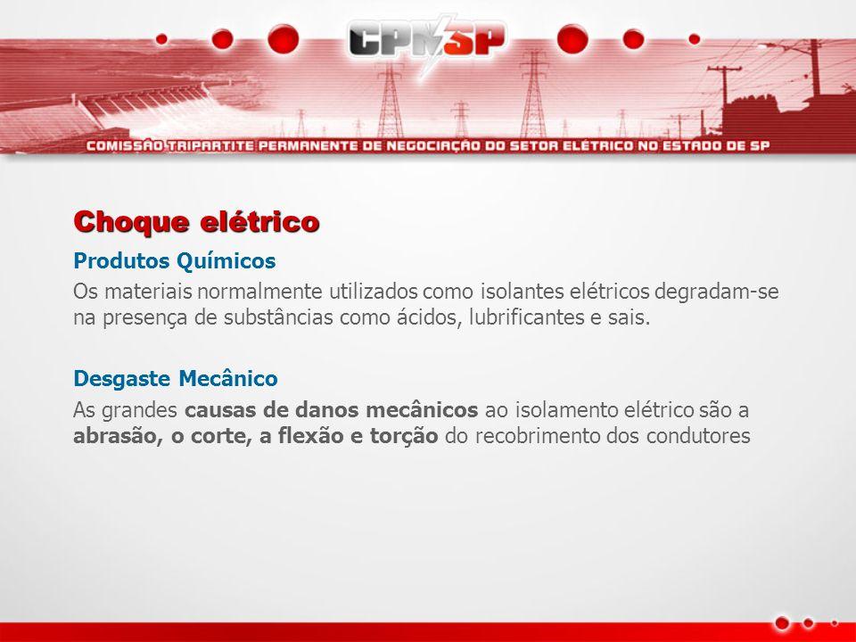 Choque elétrico Produtos Químicos
