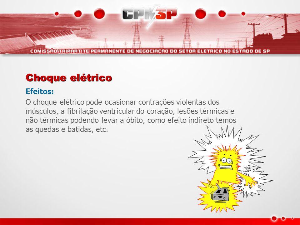 Choque elétrico Efeitos: