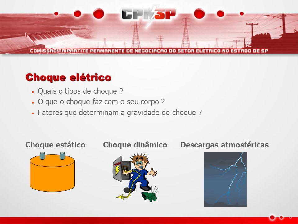 Choque elétrico Quais o tipos de choque
