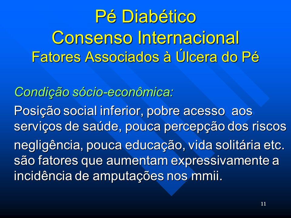 Pé Diabético Consenso Internacional Fatores Associados à Úlcera do Pé