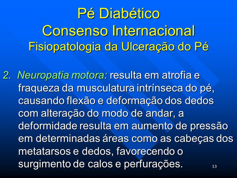 Pé Diabético Consenso Internacional Fisiopatologia da Ulceração do Pé
