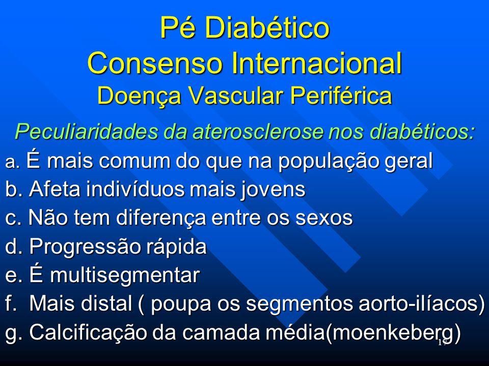 Pé Diabético Consenso Internacional Doença Vascular Periférica