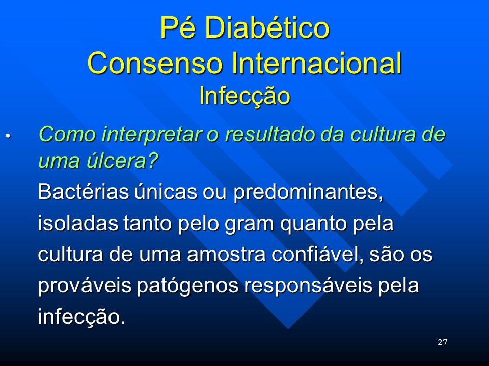 Pé Diabético Consenso Internacional Infecção