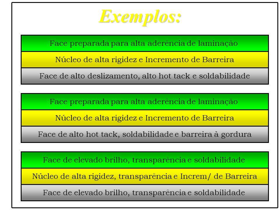 Exemplos: Face preparada para alta aderência de laminação