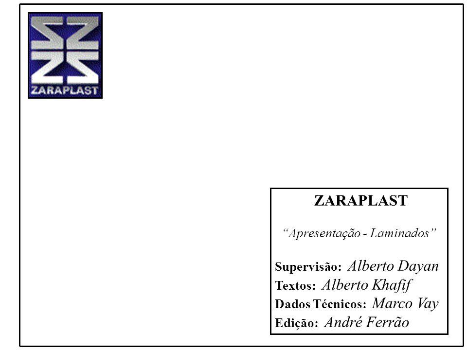 ZARAPLAST Apresentação - Laminados Supervisão: Alberto Dayan. Textos: Alberto Khafif. Dados Técnicos: Marco Vay.