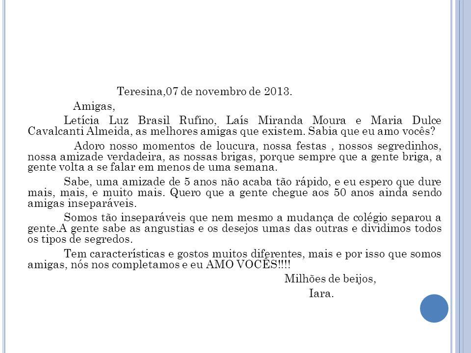 Teresina,07 de novembro de 2013