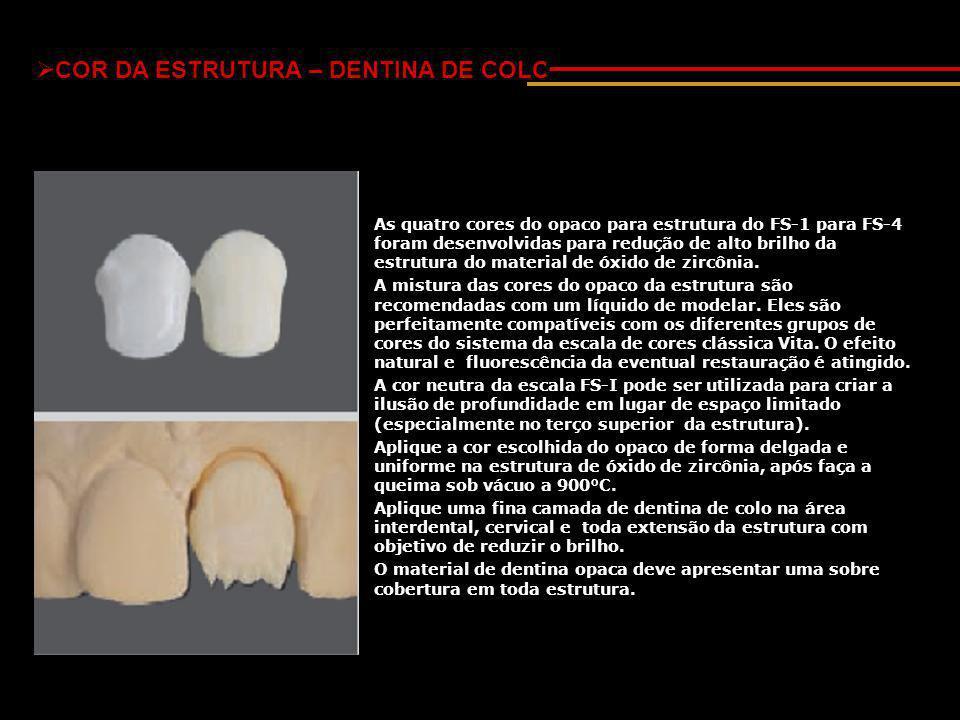 COR DA ESTRUTURA – DENTINA DE COLO