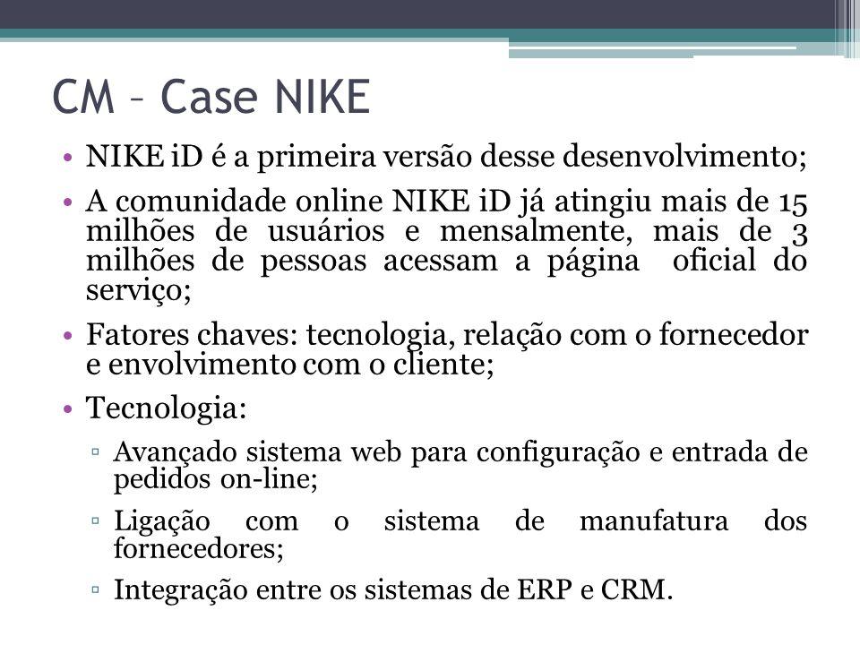 CM – Case NIKE NIKE iD é a primeira versão desse desenvolvimento;