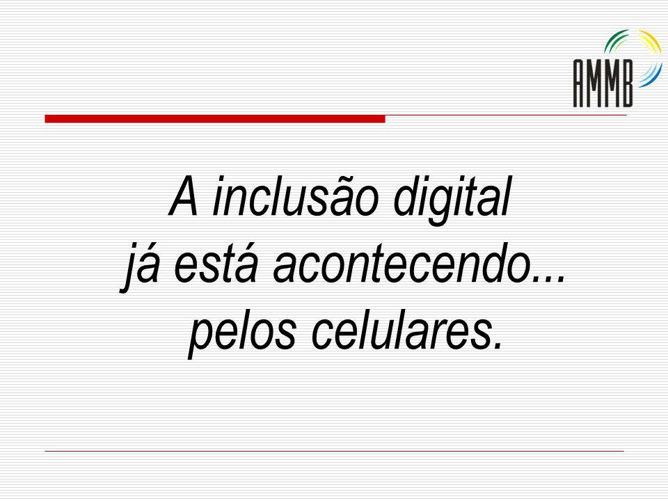A inclusão digital já está acontecendo... pelos celulares.