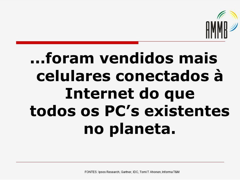 ...foram vendidos mais celulares conectados à Internet do que todos os PC's existentes no planeta.