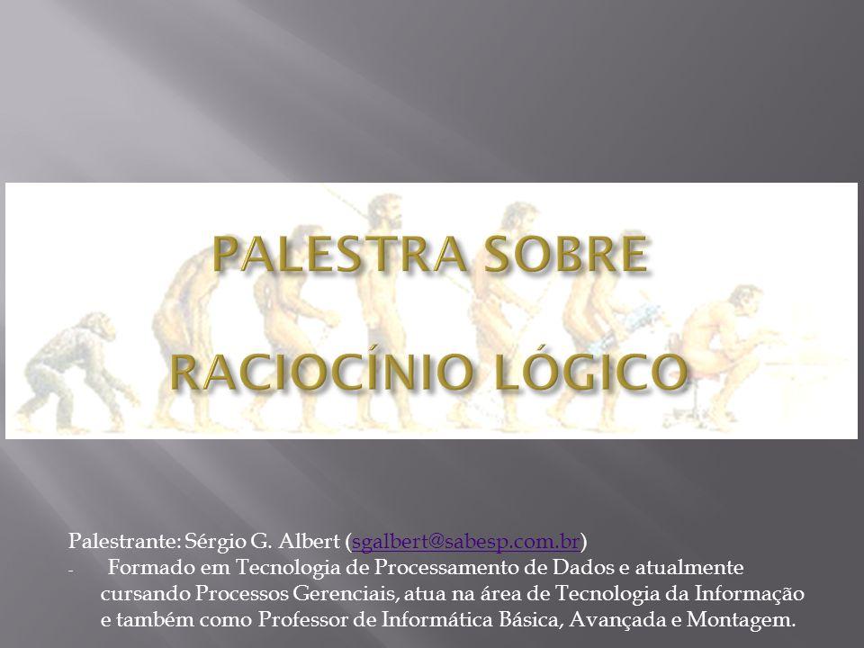 PALESTRA SOBRE RACIOCÍNIO LÓGICO