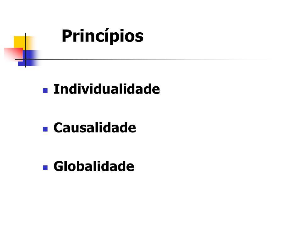 Princípios Individualidade Causalidade Globalidade