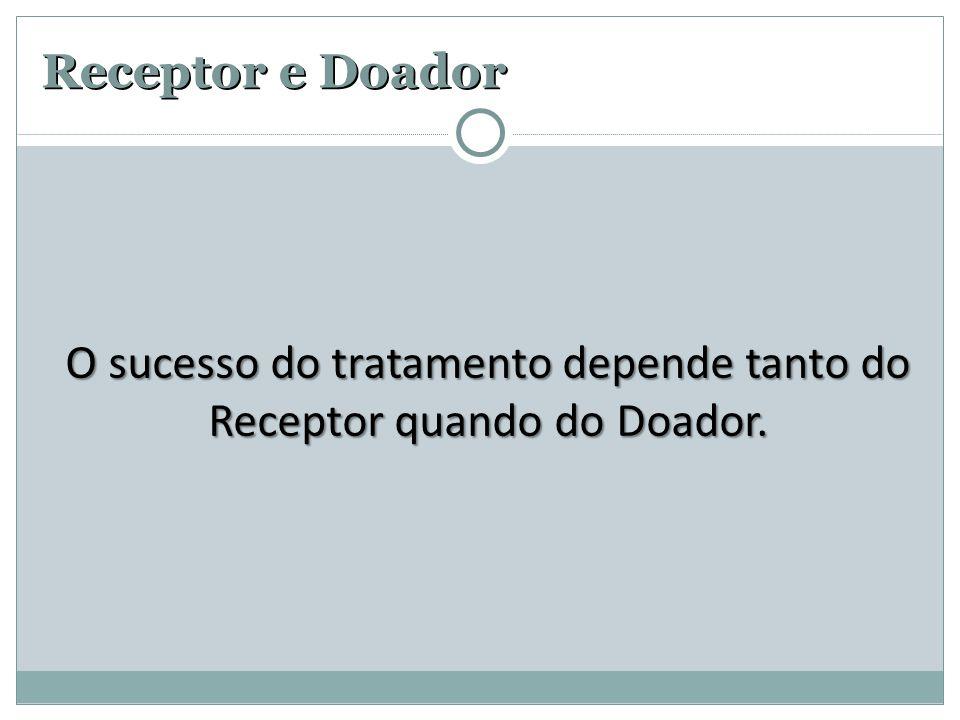 O sucesso do tratamento depende tanto do Receptor quando do Doador.