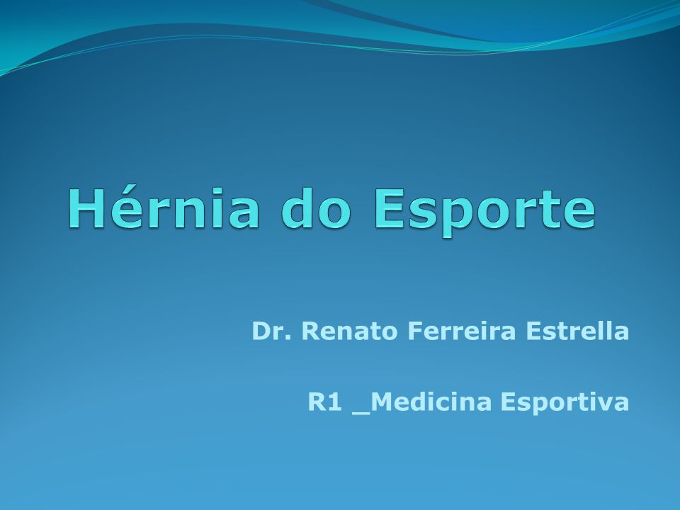 Dr. Renato Ferreira Estrella R1 _Medicina Esportiva