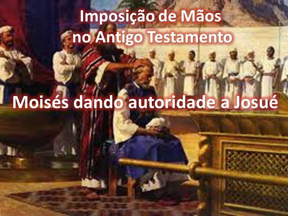 Moisés dando autoridade a Josué
