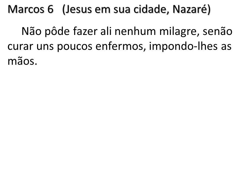 Marcos 6 (Jesus em sua cidade, Nazaré)