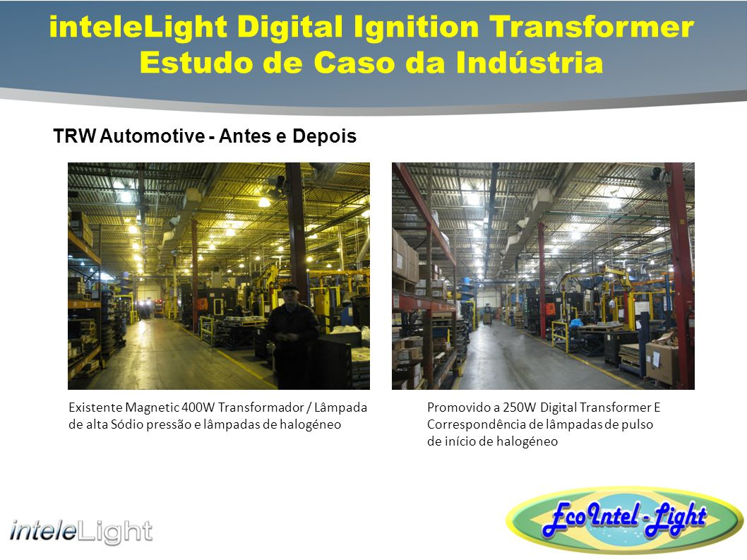 inteleLight Digital Ignition Transformer Estudo de Caso da Indústria