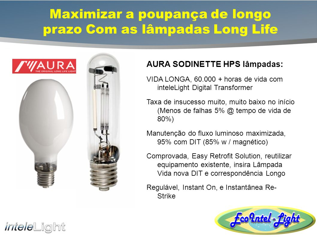 Maximizar a poupança de longo prazo Com as lâmpadas Long Life