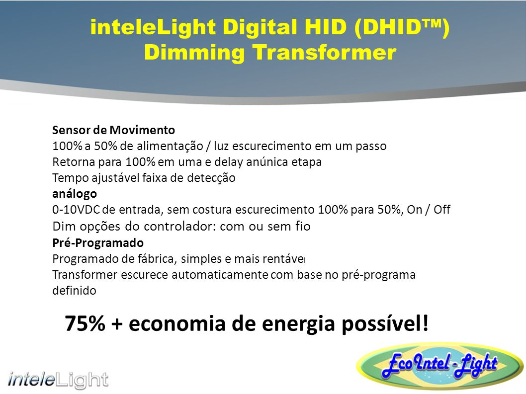 inteleLight Digital HID (DHID™) Dimming Transformer