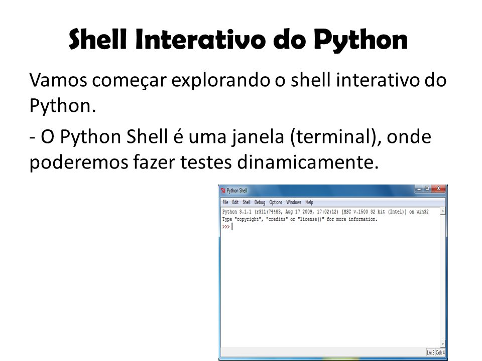 Shell Interativo do Python