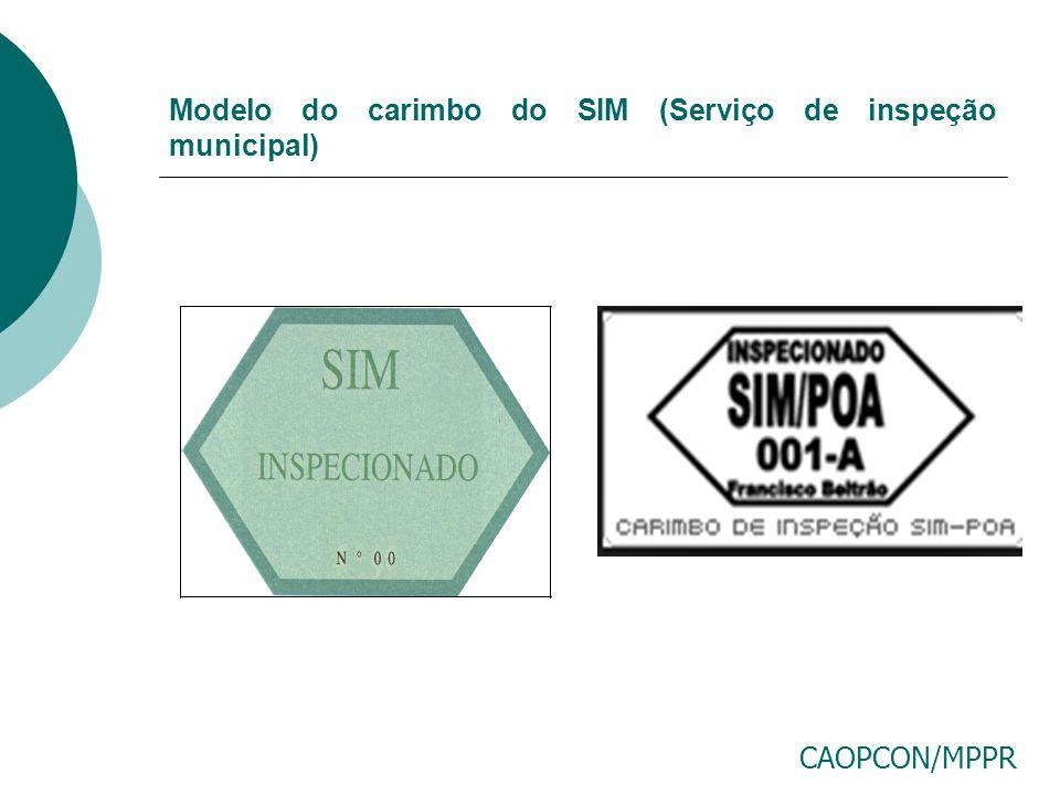 Modelo do carimbo do SIM (Serviço de inspeção municipal)