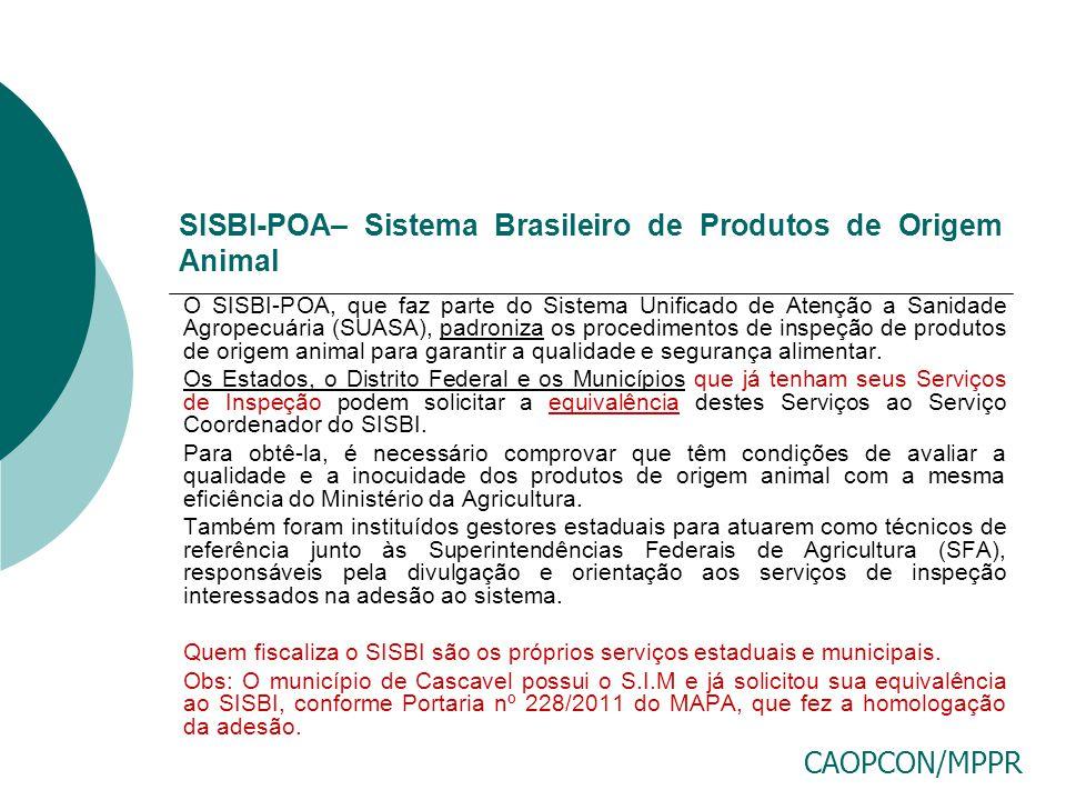 SISBI-POA– Sistema Brasileiro de Produtos de Origem Animal