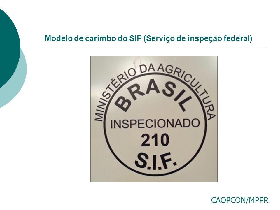 Modelo de carimbo do SIF (Serviço de inspeção federal)