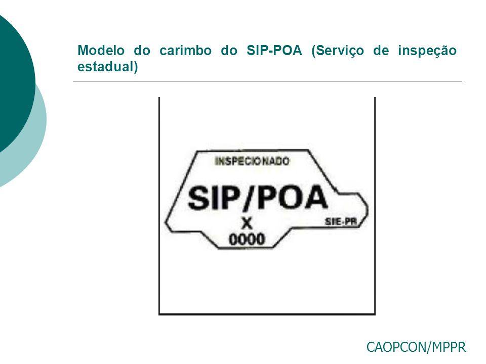 Modelo do carimbo do SIP-POA (Serviço de inspeção estadual)