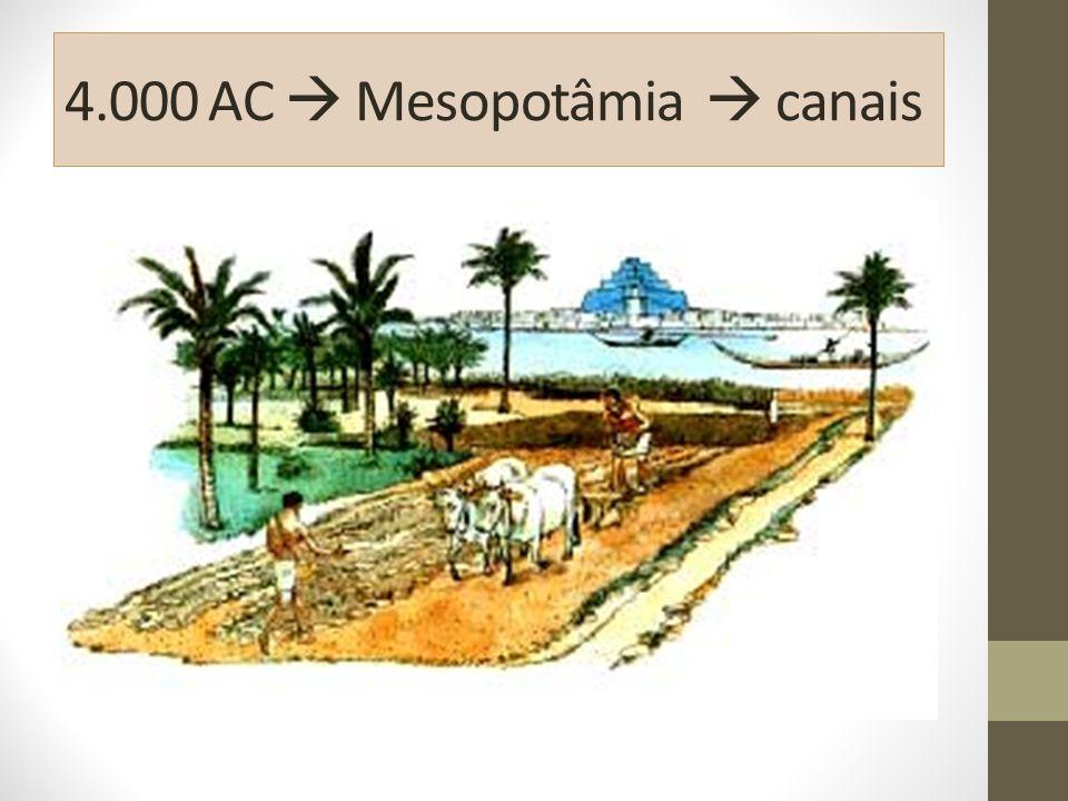4.000 AC  Mesopotâmia  canais