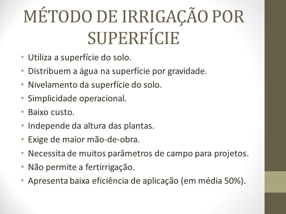 MÉTODO DE IRRIGAÇÃO POR SUPERFÍCIE