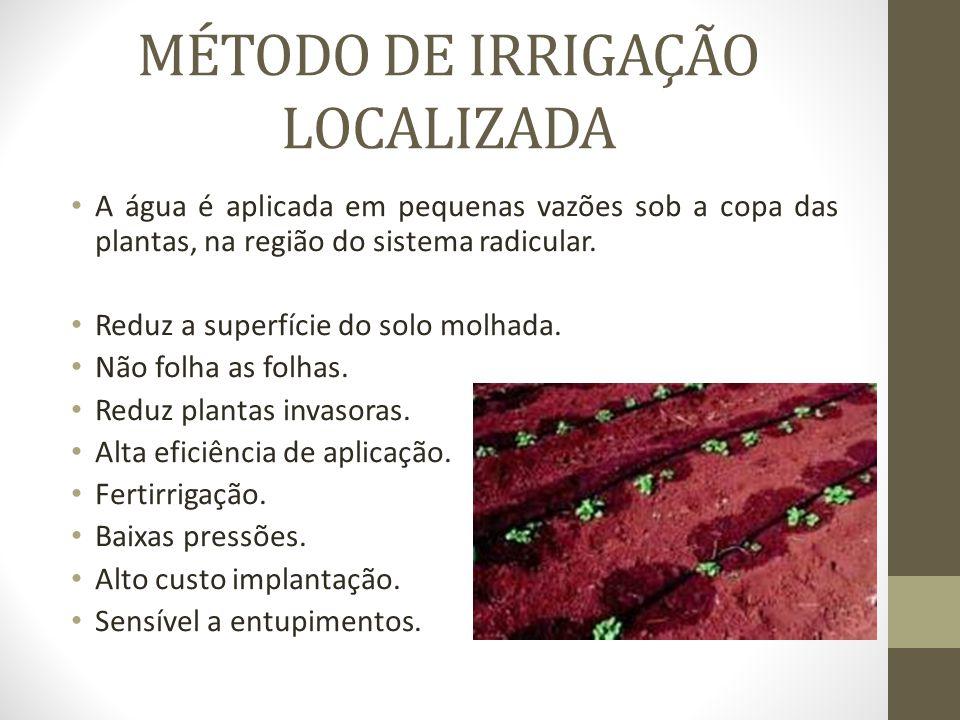 MÉTODO DE IRRIGAÇÃO LOCALIZADA