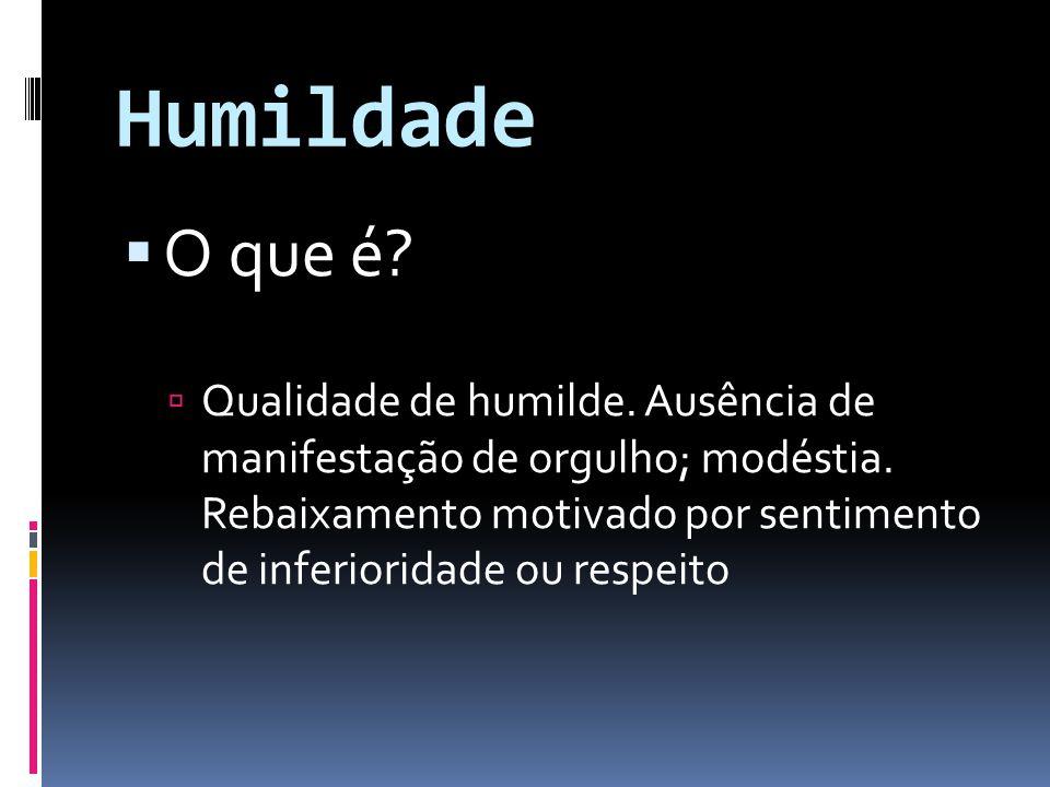Humildade O que é
