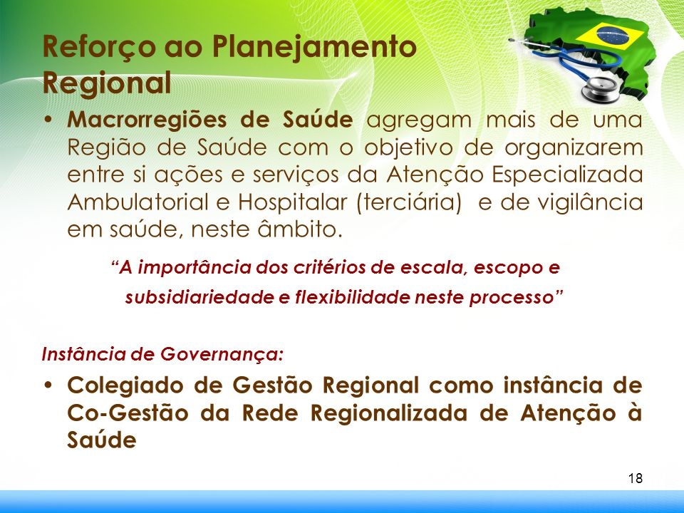 Reforço ao Planejamento Regional