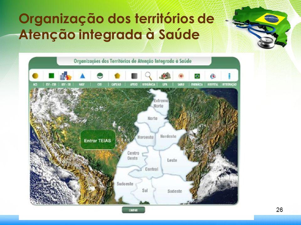 Organização dos territórios de Atenção integrada à Saúde