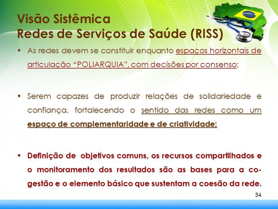 Visão Sistêmica Redes de Serviços de Saúde (RISS)