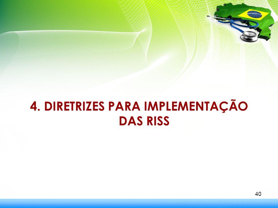 4. DIRETRIZES PARA IMPLEMENTAÇÃO DAS RISS