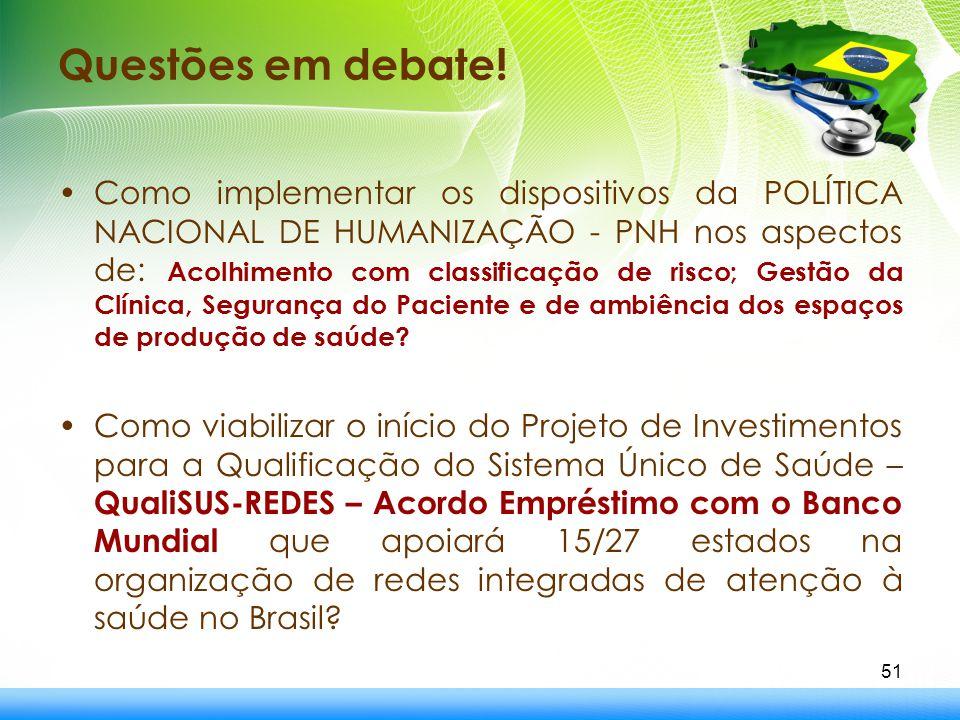 Questões em debate!