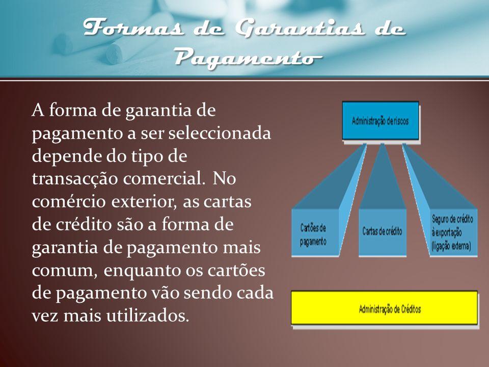 Formas de Garantias de Pagamento