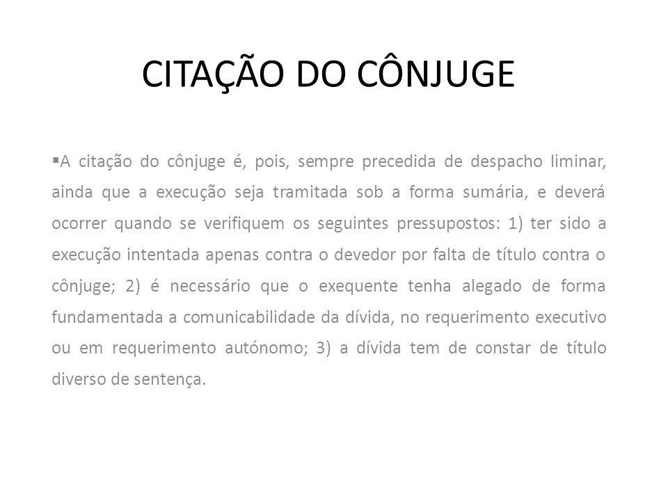 CITAÇÃO DO CÔNJUGE
